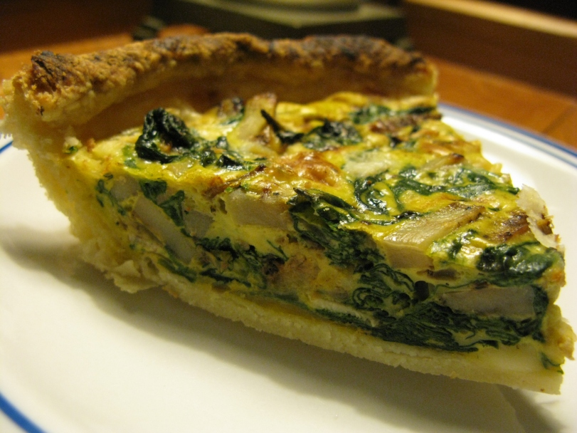 Andrew whipped up a couple of beautiful spinach quiches for the week! What a treat!