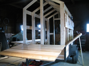 The frame of our new market trailer! Thank you Andrew!